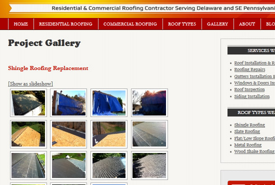 All Roofing Solutions WordPress website