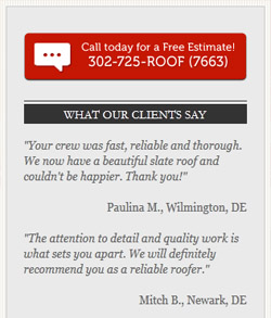 All Roofing Solutions WordPress website - design elements