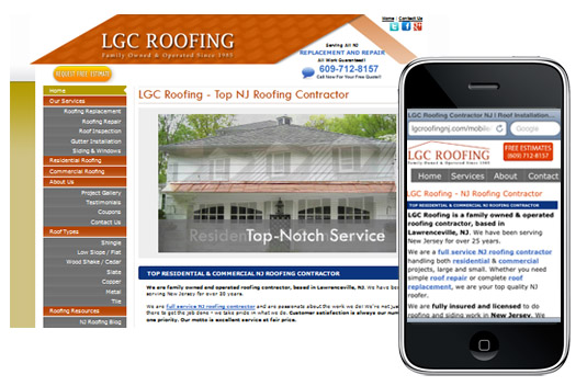Mobile Design for LGC Roofing