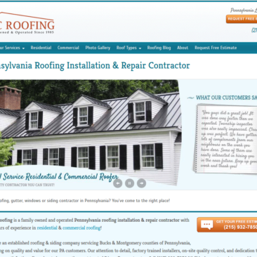 LGC Roofing WordPress Design & Development