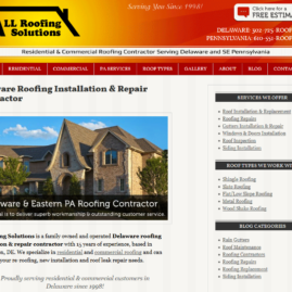 All Roofing Solutions WordPress Design & Development