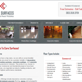 Core Surfaces WordPress Design & Development